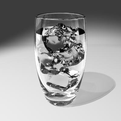 ice in glass of water gif