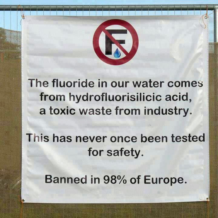 Why did europe stop fluoridating water