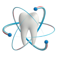 Tooth fluoride protection icon isolated