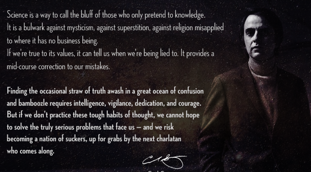 Wise Words From Carl Sagan Open Parachute