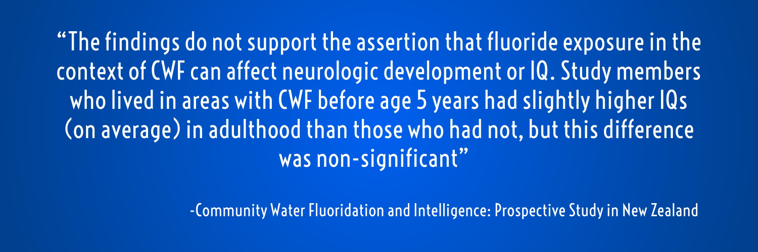Fluoridation: Connett's criticism of New Zealand research debunked ...